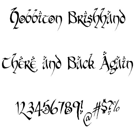 Lord of the Rings Font | BreeCraft